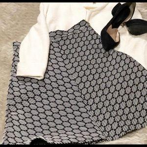 ZARA Geometric A-Line Skirt Size S